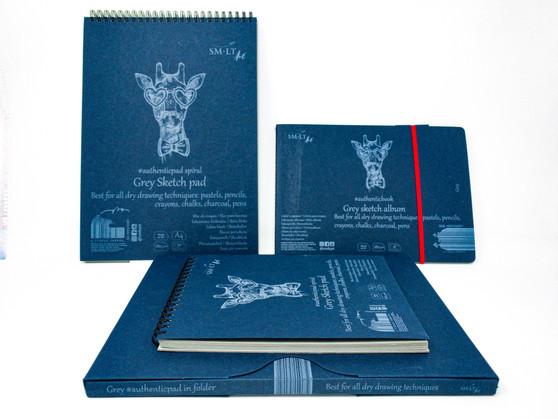 SM-LT Art Paper Authentic Stitched Sketch Grey