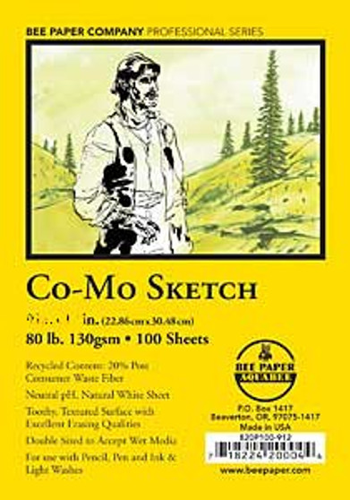 Bee Paper Sketch Pad 820 Co-Mo 8x10 30sh