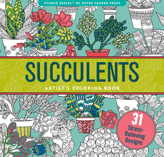 Succulents Adult Coloring Book