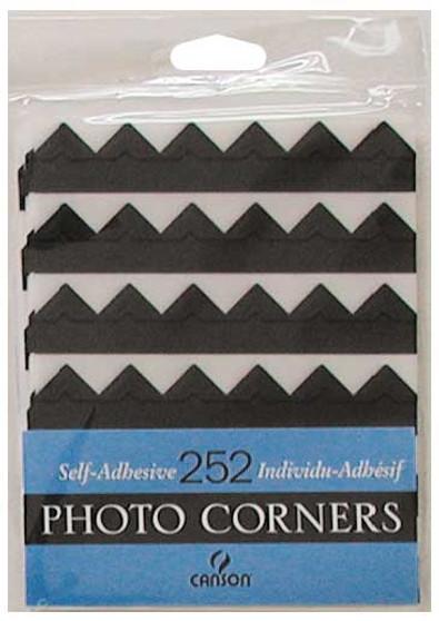 Canson Self-Adhesive Photo Corner Sheets Black
