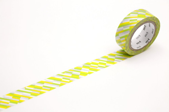 MT Washi Tape Block Stripe Green