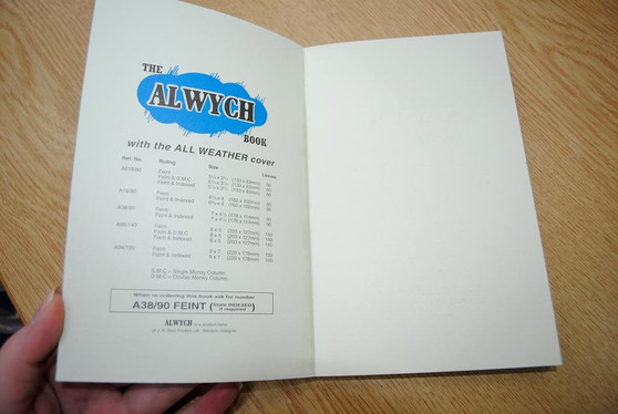 Alwych All- Weather Cover Notebook 6.4X4