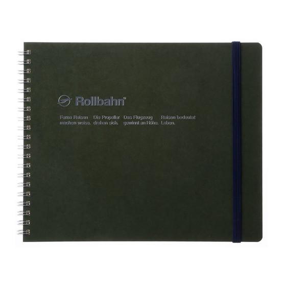 Rollbahn Notebook Landscape Field Size 8X7 Olive
