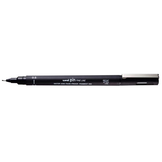 uni Pin Fineliner 05 Black