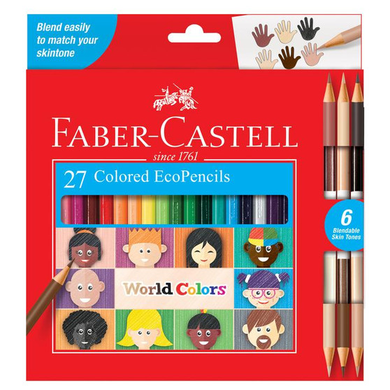 Faber-Castell World Colors Set of 27 Colored EcoPencils