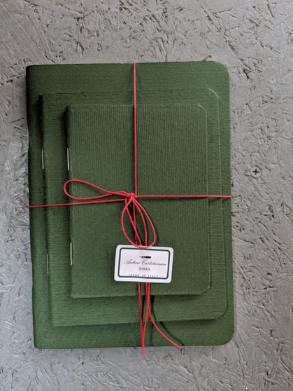 Antica Cartotecnica Set of 3 Green Blank Journals