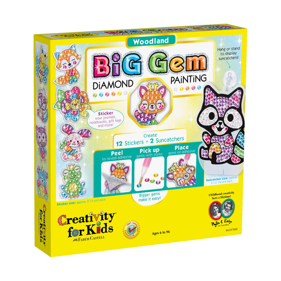 Creativity for Kids Big Gem Diamond Painting – Woodland