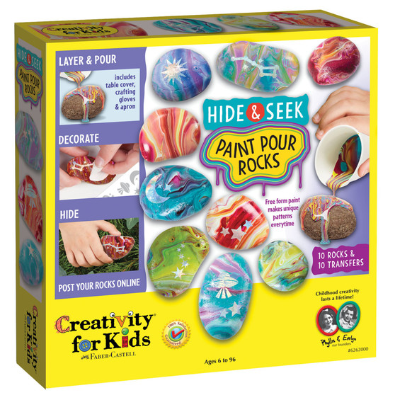 Creativity for Kids Hide & Seek Paint Pour Rocks