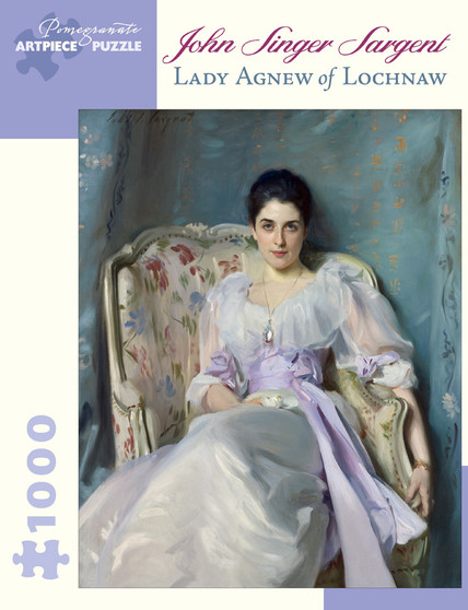 Pomegranate 1,000-piece Jigsaw Puzzle John Singer Sargent: Lady Agnew of Lochnaw