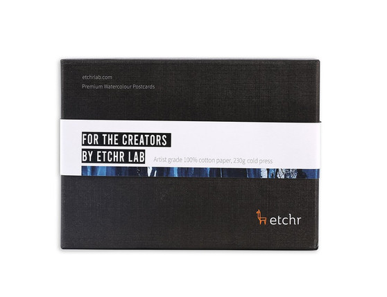 Etchr Watercolour Postcards: Cold Press 100 Pack