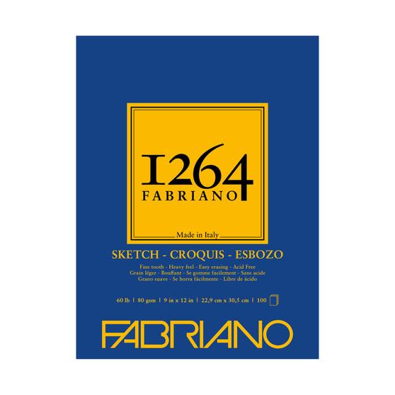 Fabriano 1264 Sketch Pad 9X12 100 Sheets