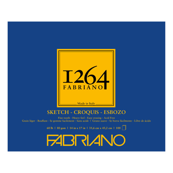 Fabriano 1264 Sketch Pad 14X17 100 Sheets
