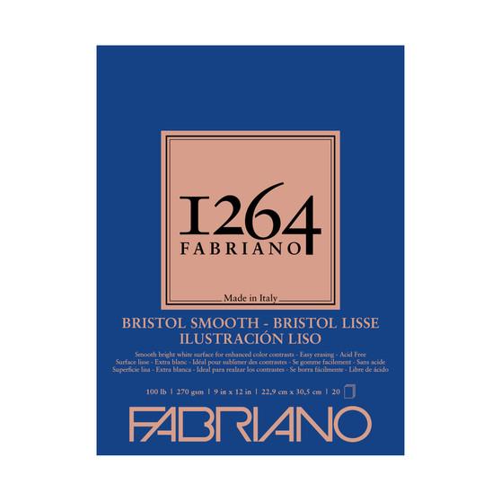 Fabriano 1264 Bristol Smooth Pad 9X12 20 Sheets