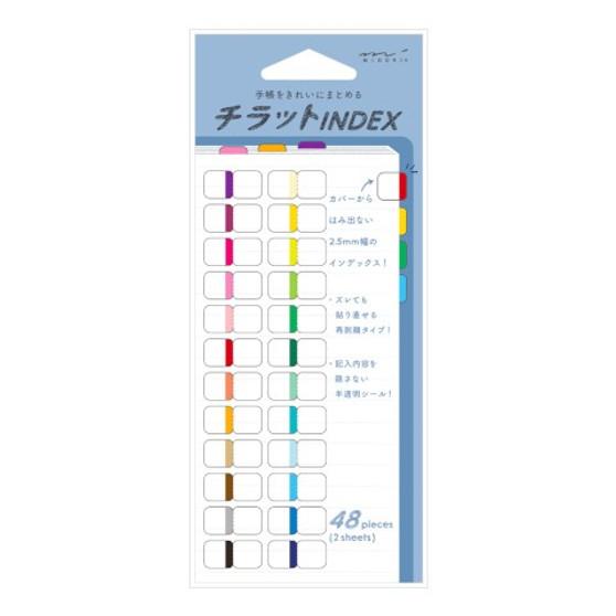 Midori Index Labels Chiratto 24 Vivid Colors