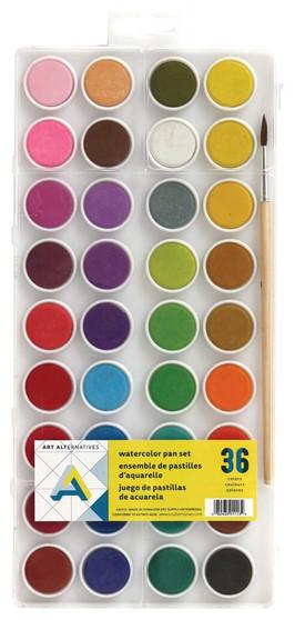 Art Alternatives Watercolor 36-Color Pan Set