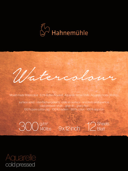 Hahnemuhle The Collection Watercolor Pad 140lb Cold Press 9X12