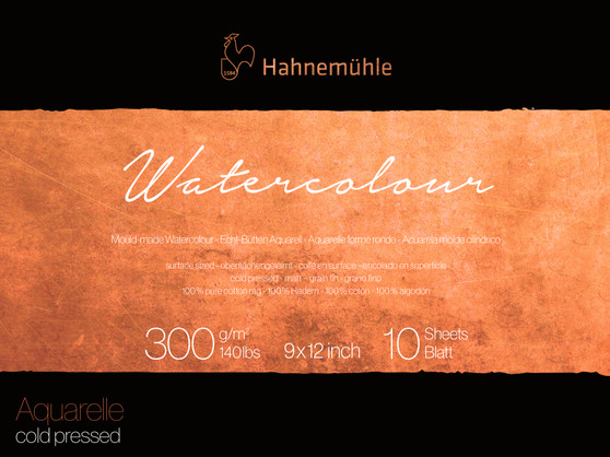 Hahnemuhle Collection Watercolor Block Cold Press 140lb 9X12""