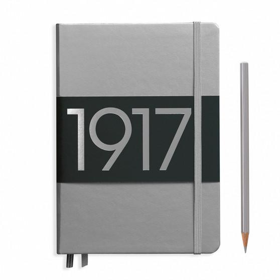Leuchtturm 1917 Medium A5 Blank Metallic Silver