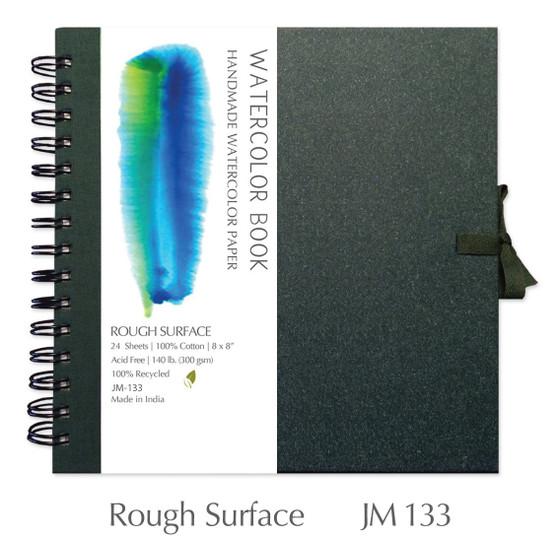 Shizen Design Rough Watercolor 8X8 Spiral Bound Journal