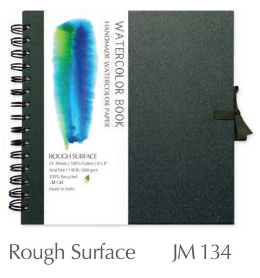 Shizen Design Rough Watercolor 6X6 Spiral Bound Journal