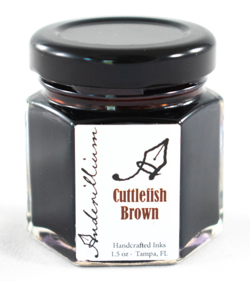 Anderillium Fountain Pen Ink Bottle 1.5oz Cuttlefish Brown