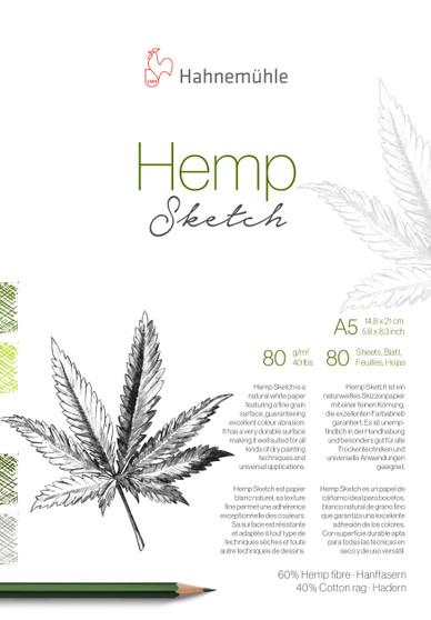 Hahnemuhle Hemp Sketch Pad A5 80 Sheet