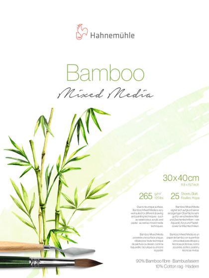 "Hahnemuhle Natural Line Bamboo Mixed Media Block 265gsm 25 Sheet 30x40cm (12X16"")"