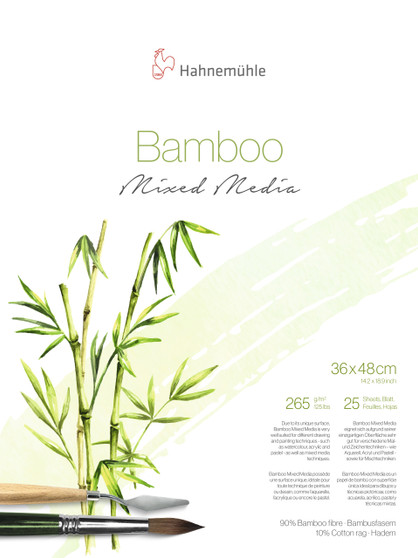"""Hahnemuhle Natural Line Bamboo Mixed Media Block 36X48cm (14x19"""")"""