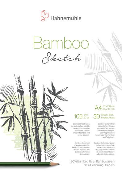 Hahnemuhle Natural Line Bamboo Sketch Pad A4 30 Sheets