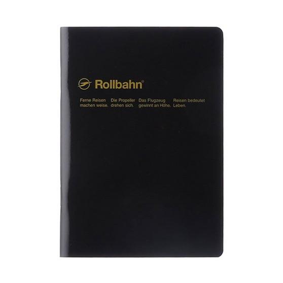 Rollbahn 'Note' Notebooks 8X10 Stapled Journal Black