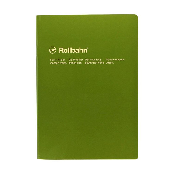 Rollbahn 'Note' Notebooks 8X10 Stapled Journal Olive
