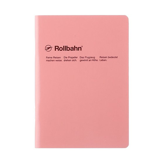 Rollbahn 'Note' Notebooks 8X10 Stapled Journal Light Coral Pink