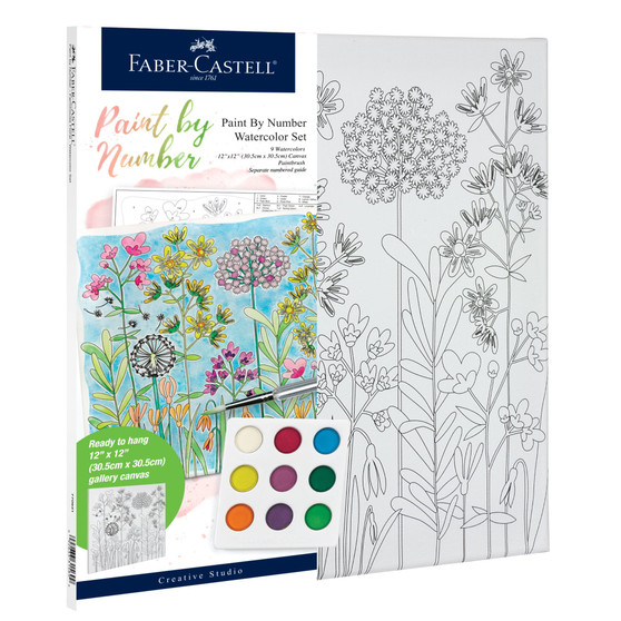 Faber-Castell Watercolor Paint by Number Farmhouse