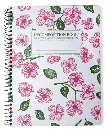 Michael Roger Press Decomposition Spiral Bound Ruled Notebook Dogwood