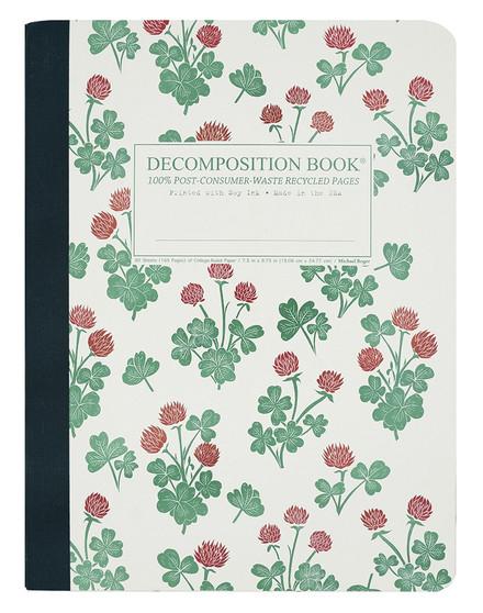 Michael Roger Press Decomposition Tape Bound Ruled Notebook Crimson Clover