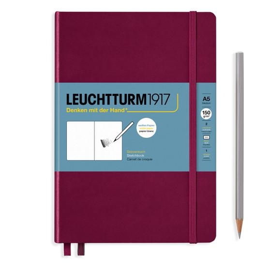 Leuchtturm 1917 Sketchbook Medium (A5) Port Red