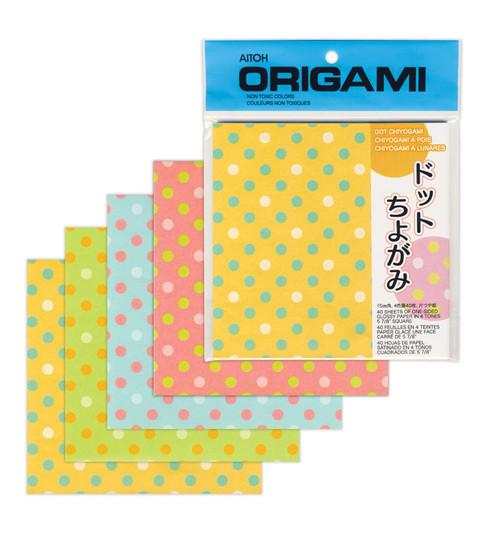 """Aitoh Origami Dots 40 Sheets 5 7/8"""""""