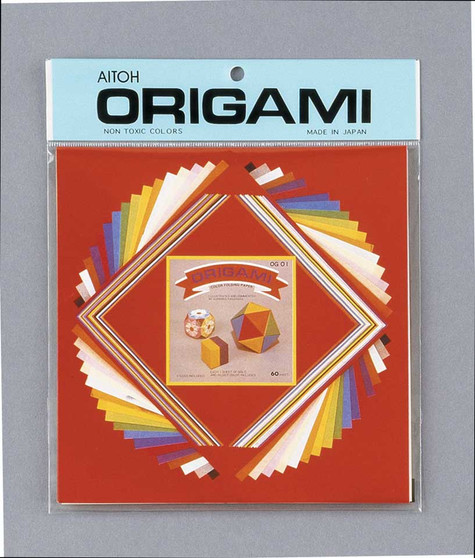 "Aitoh Origami Small Mix 60 Sheets 3.5/4.5/7"""