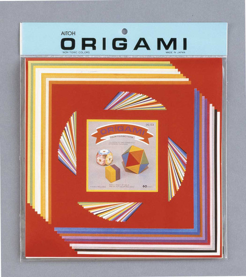 """Aitoh Origami Large Mix 60 Sheets 4.5/7/9.75"""""""