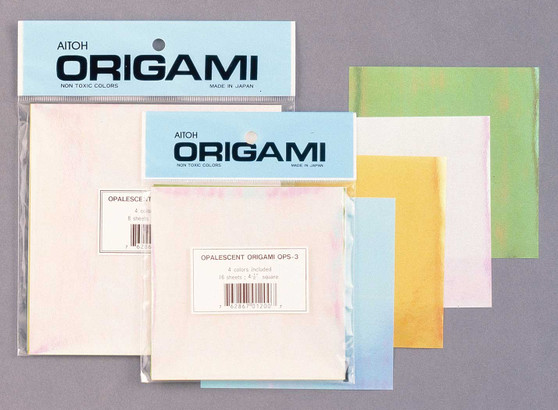 """Aitoh Origami Opalescent Smooth 16 Sheets 4.5"""""""