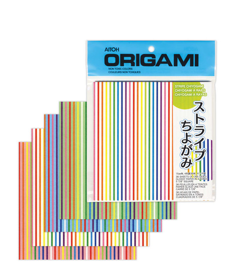 "Aitoh Origami Stripe 40 Sheet 5 7/8"""