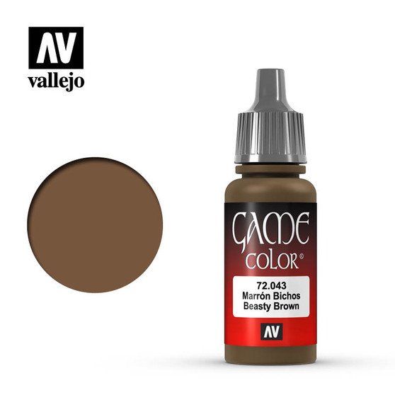 Vallejo Game Color Acrylic 17ml Beasty Brown