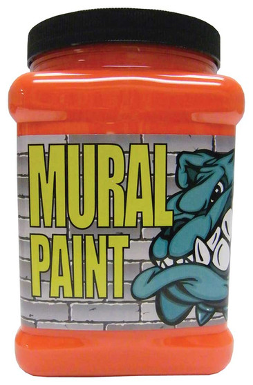 Chroma Mural Paint Half Gallon Fury Orange