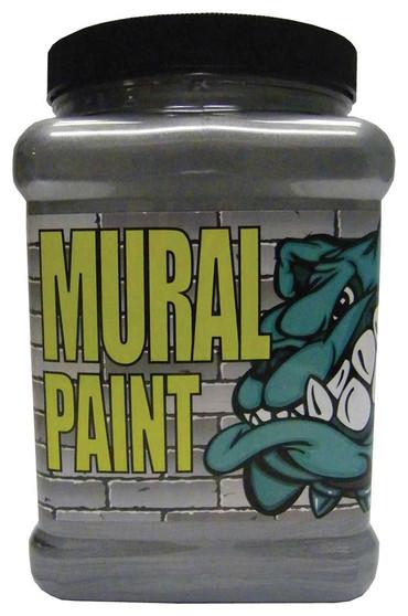 Chroma Mural Paint Half Gallon Rock Star Silver