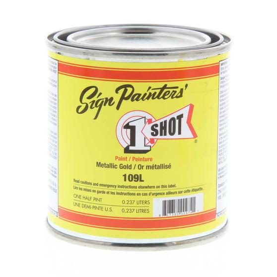 1 Shot Lettering Enamel 1/2 Pint Paint Can Gold