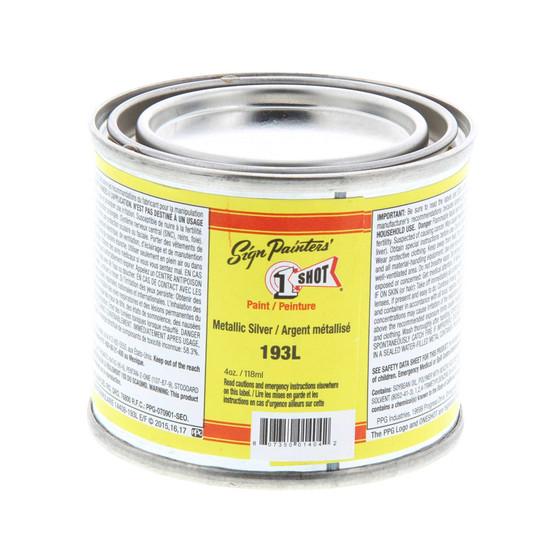 1 Shot Lettering Enamel 1/4 Pint Paint Can Silver