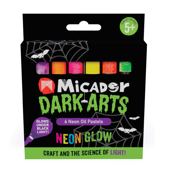 Micador Dark Arts Neon Glow Oil Pastels