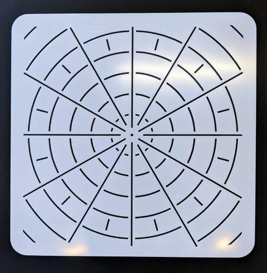 "The Dotting Center 12"" Mandala Stencil Divider 12/24"