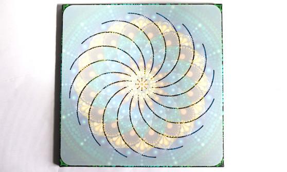 "The Dotting Center 12"" Mandala Stencil Torus"