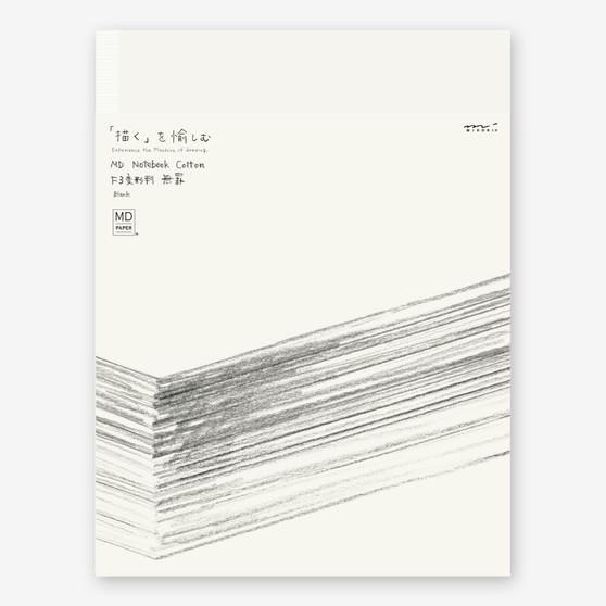 "Midori MD Cotton Blank Notebook F3 (10.7X8"") Soft Cover"